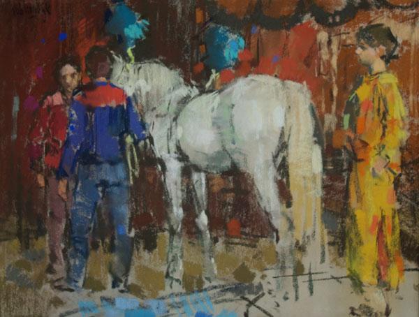 Rob-Houdijk-Achter-de-coulissen-van-Circus-Krone-IV-pastel-60-x-80-cm