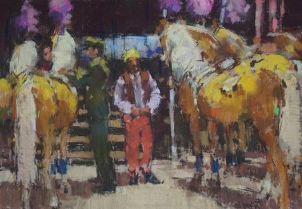 Rob-Houdijk-Achter-de-coulissen-van-Circus-Krone-V-pastel-60-x-80-cm