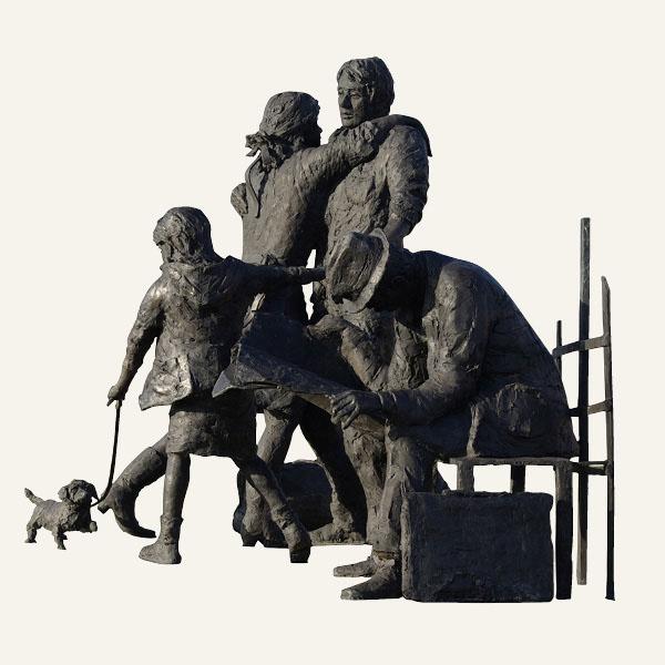 Rob-Houdijk-Bij-een-bushalte-brons-H-185-cm