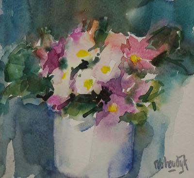 Rob-Houdijk-Bloemstilleven-aquarel-20-x-20-cm