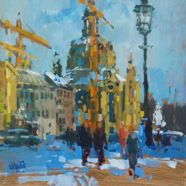 Rob-Houdijk-Dresden-in-de-sneeuw-I-olieverf-50-x-50-cm
