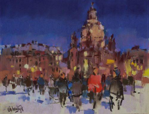 Dresden in de sneeuw
