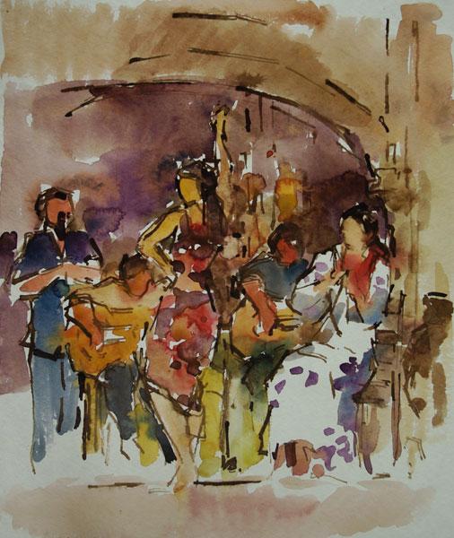 Rob-Houdijk-Flamenco-I-gemengde-techniek-52-x-42-cm