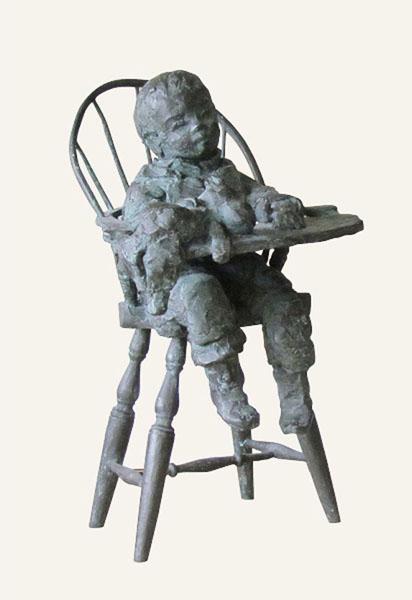 Rob-Houdijk-Isabella-in-de-kinderstoel-brons-H-38-cm