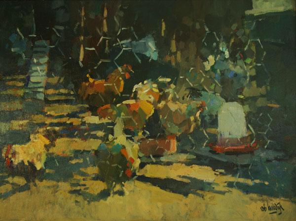 Rob-Houdijk-Kippenhok-I-olieverf-75-x-100-cm
