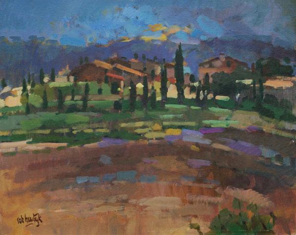 Rob-Houdijk-Landschap-in-Toscane-olieverf-40-x-50-cm