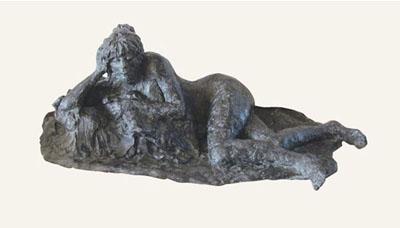 Rob-Houdijk-Liggend-naakt-brons-H-20-cm