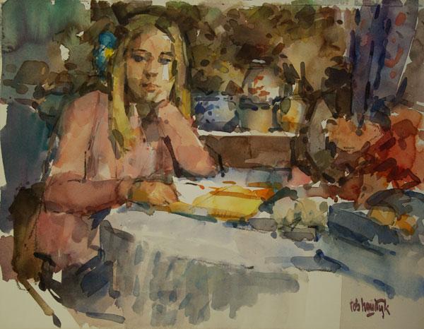 Rob-Houdijk-Lynn-op-het-atelier-aquarel-50-x-65