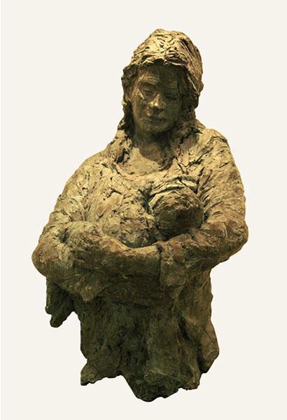 Rob-Houdijk-Moeder-met-baby-brons-H-90-cm