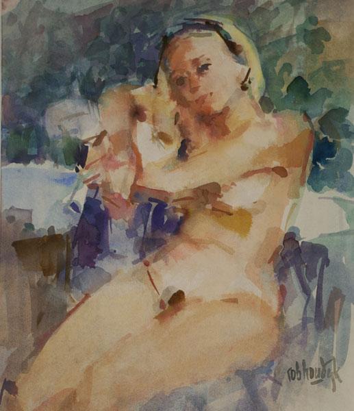 Rob-Houdijk-Naakt-aquarel-65-x-50-cm