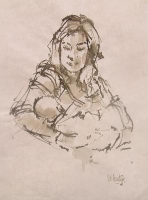 Rob-Houdijk-Nienke-met-baby-sepia-33-x-25-cm.jpg