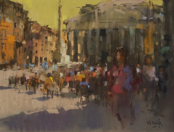 Rob-Houdijk-Piazza-della-Rotonda-I-pastel-49-x-64-cm
