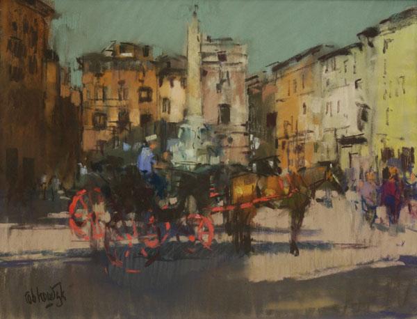 Rob-Houdijk-Piazza-della-Rotonda-II-pastel-49-x-64-cm