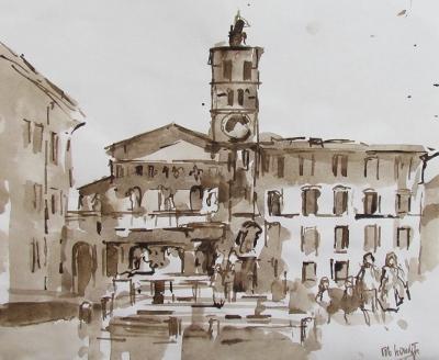 Rob-Houdijk-Rome,-Trastevere-sepia-35-x-42-cm.jpg