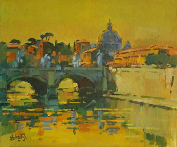 Rob-Houdijk-Rome-gezicht-op-Tiber-50-x-60