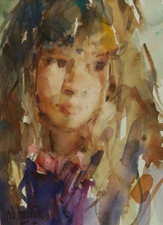 Rob-Houdijk-Rosanne-aquarel-31-x-22-cm