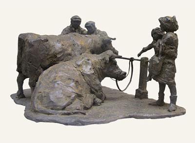 Rob-Houdijk-Veemarkt-Purmerend-brons-H-33-cm